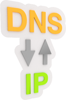 DNS - IP Text in 3D Design